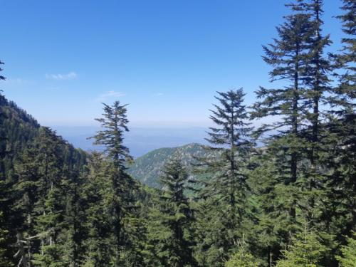 vue depuis les Pyrénées  Orientale